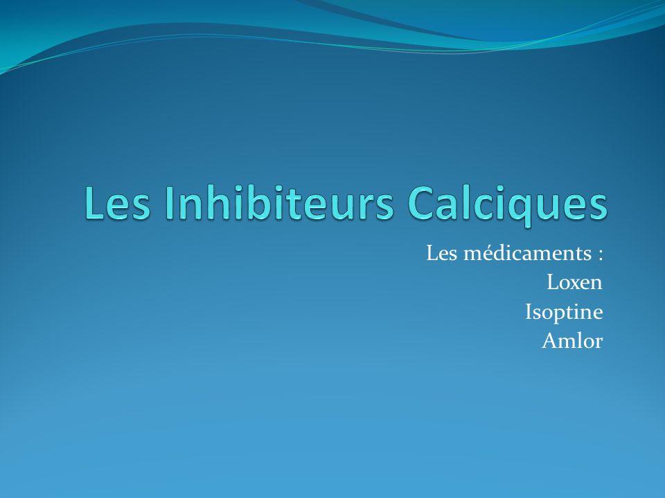 A : CATEGORIES ET PROPRIETES a : catégories LOXENISOPTINEAMLOR Anti hypertenseur de la famille des inhibiteurs calciques Anti hypertenseur, Inhibiteur calcique sélectif à effet cardiaque direct.