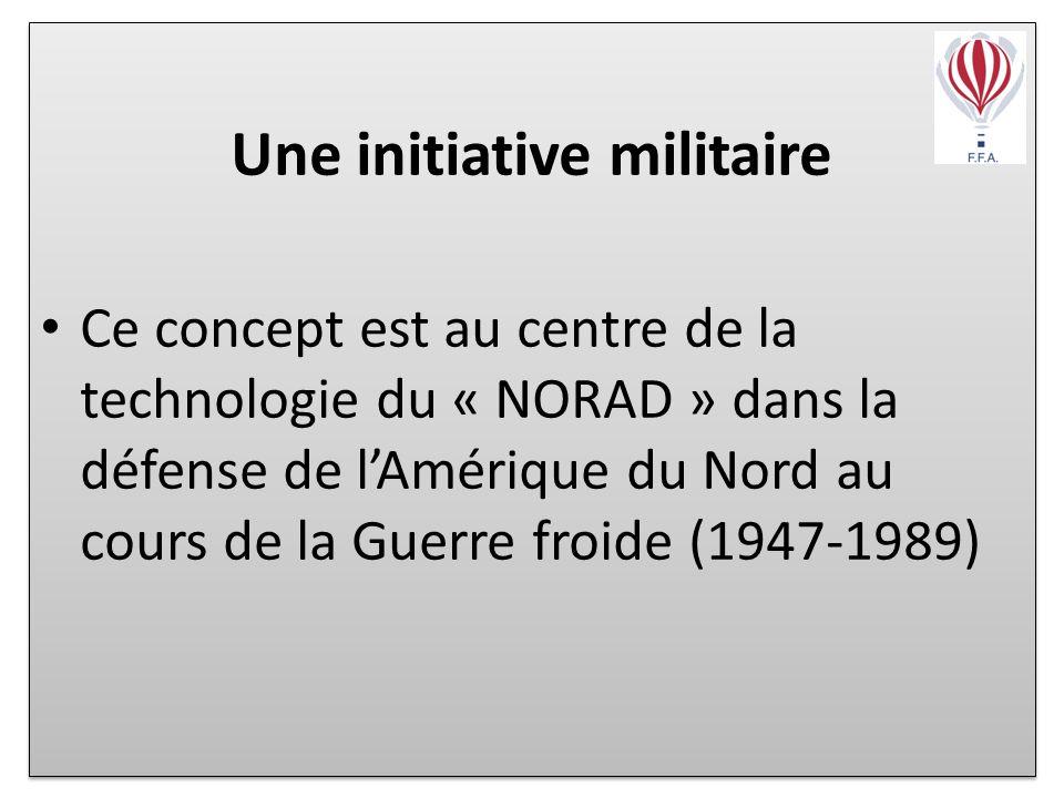 Une initiative militaire Ce concept est au centre de la technologie du « NORAD » dans la défense de lAmérique du Nord au cours de la Guerre froide (1947-1989) Une initiative militaire Ce concept est au centre de la technologie du « NORAD » dans la défense de lAmérique du Nord au cours de la Guerre froide (1947-1989)