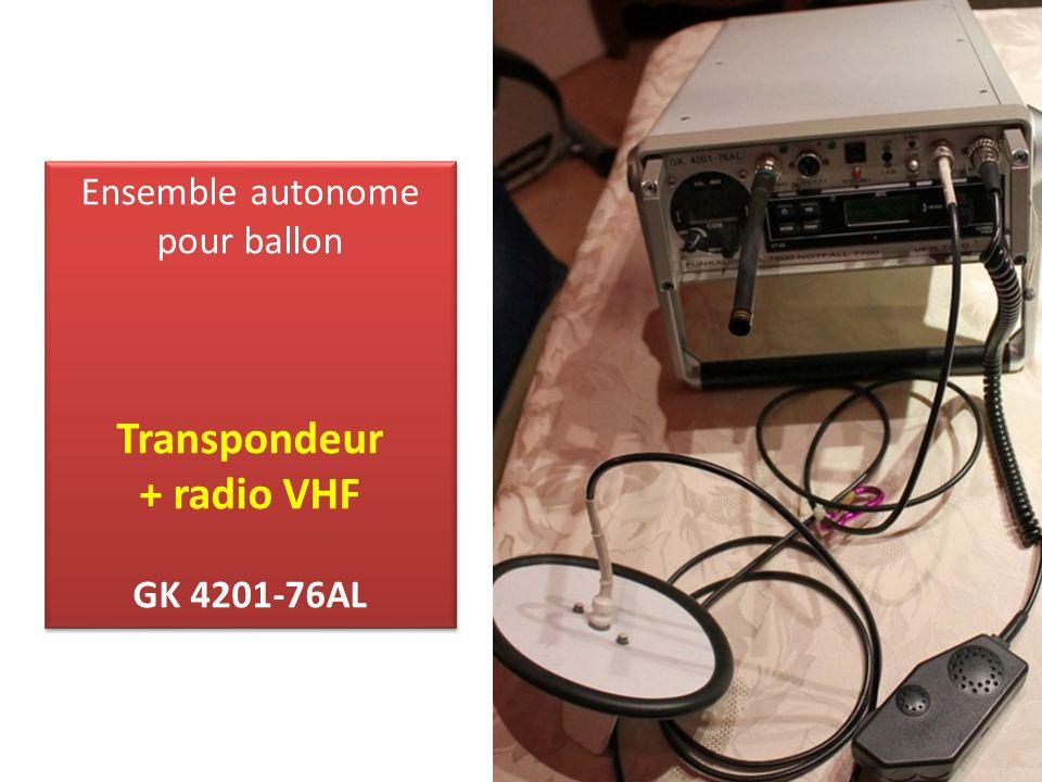 Ensemble autonome pour ballon Transpondeur + radio VHF GK 4201-76AL Ensemble autonome pour ballon Transpondeur + radio VHF GK 4201-76AL
