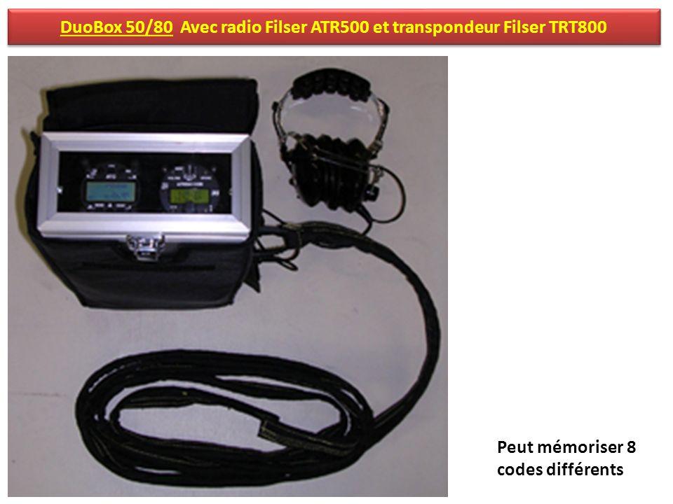 DuoBox 50/80 Avec radio Filser ATR500 et transpondeur Filser TRT800 Peut mémoriser 8 codes différents