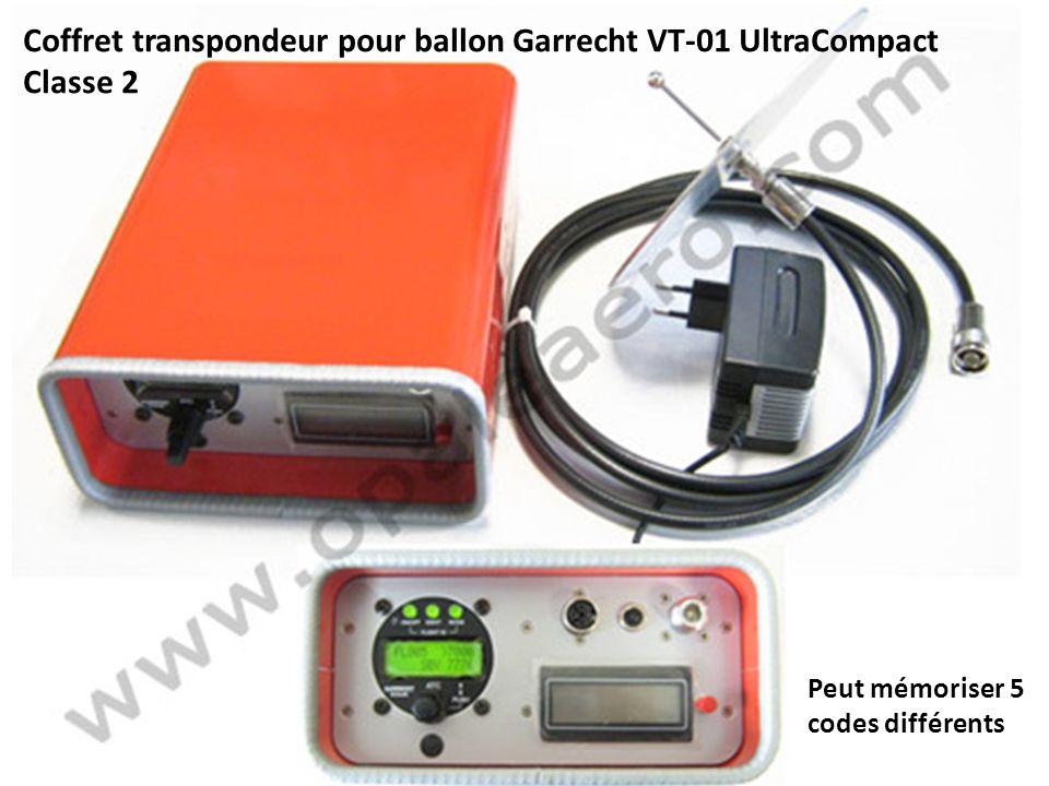 Coffret transpondeur pour ballon Garrecht VT-01 UltraCompact Classe 2 Peut mémoriser 5 codes différents