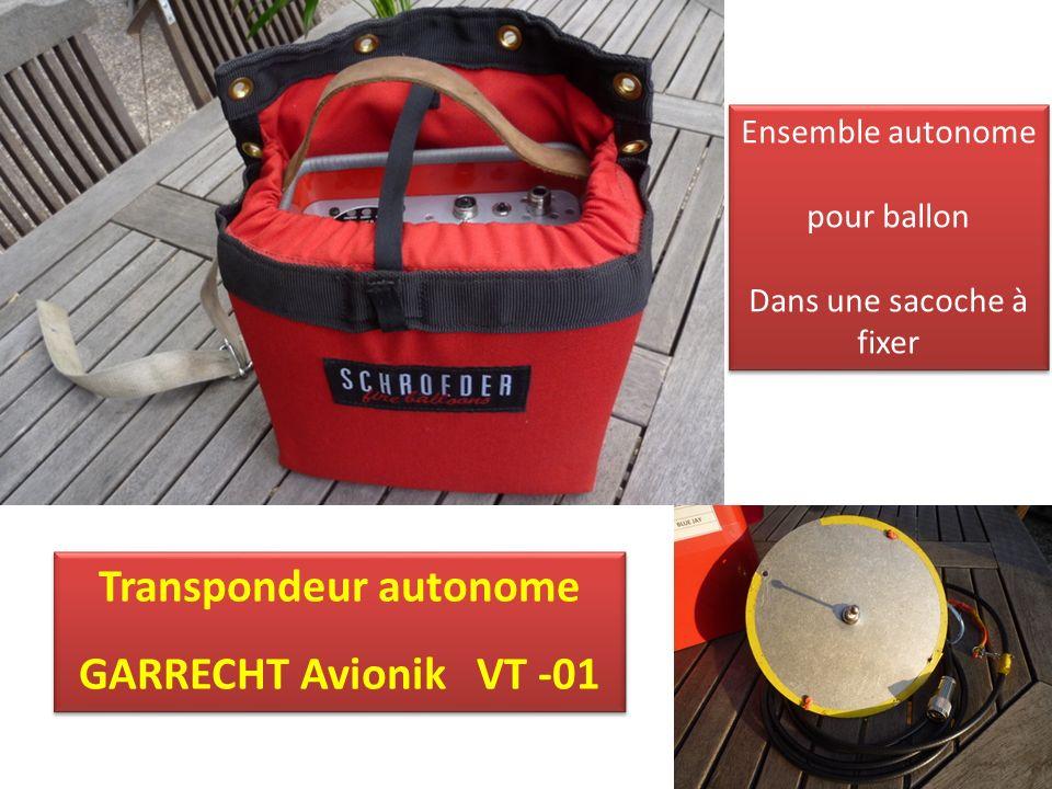 Transpondeur autonome GARRECHT Avionik VT -01 Transpondeur autonome GARRECHT Avionik VT -01 Ensemble autonome pour ballon Dans une sacoche à fixer Ensemble autonome pour ballon Dans une sacoche à fixer