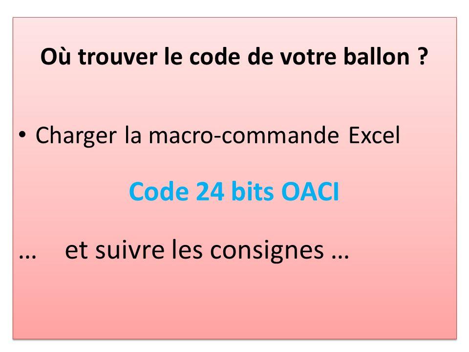 Où trouver le code de votre ballon .
