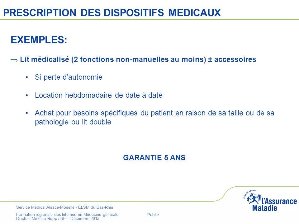 Service Médical Alsace-Moselle - ELSM du Bas-Rhin Formation régionale des Internes en Médecine générale Docteur Michèle Rupp / BF – Décembre 2013 Page