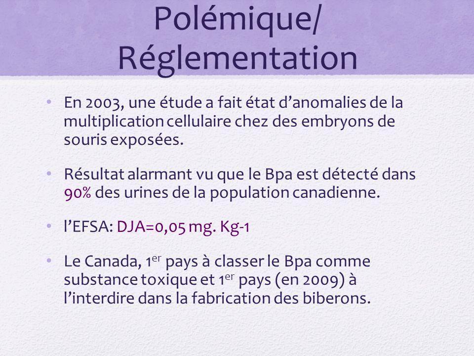 Polémique/ Réglementation En 2003, une étude a fait état danomalies de la multiplication cellulaire chez des embryons de souris exposées.
