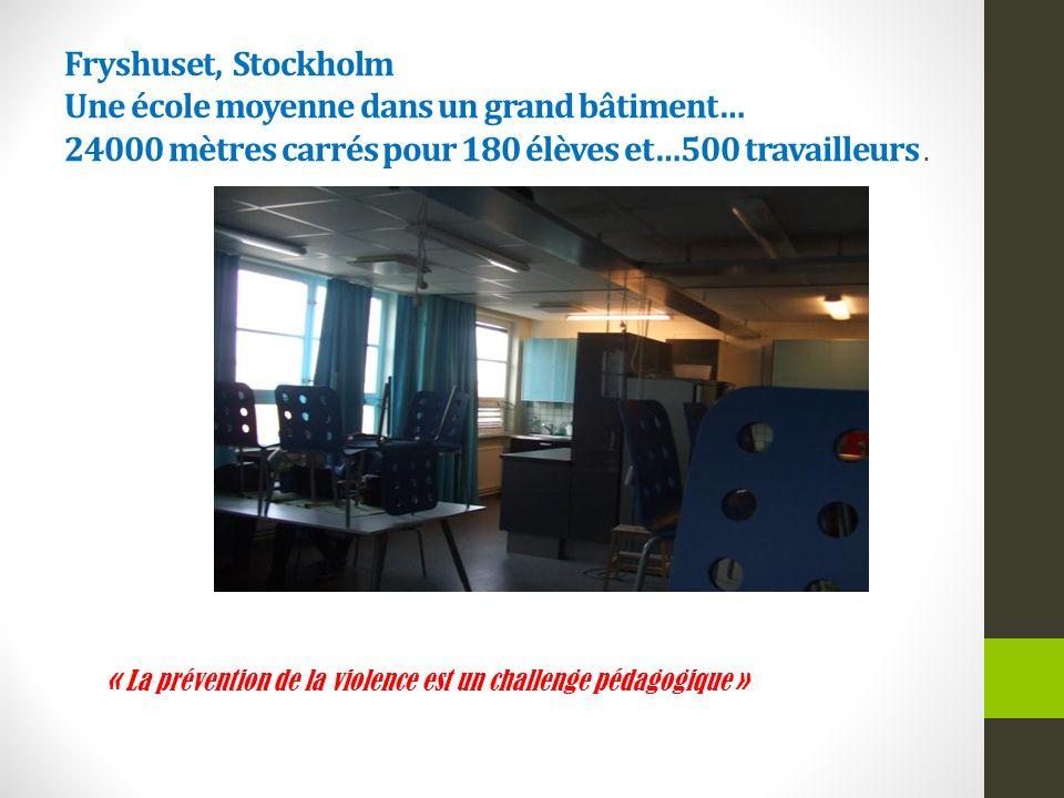 Fryshuset, Stockholm Une école moyenne dans un grand bâtiment… 24000 mètres carrés pour 180 élèves et…500 travailleurs.