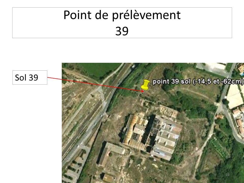 Point de prélèvement 39 Sol 39 16