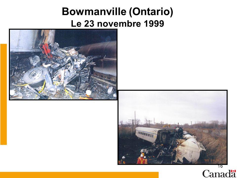 16 Bowmanville (Ontario) Le 23 novembre 1999