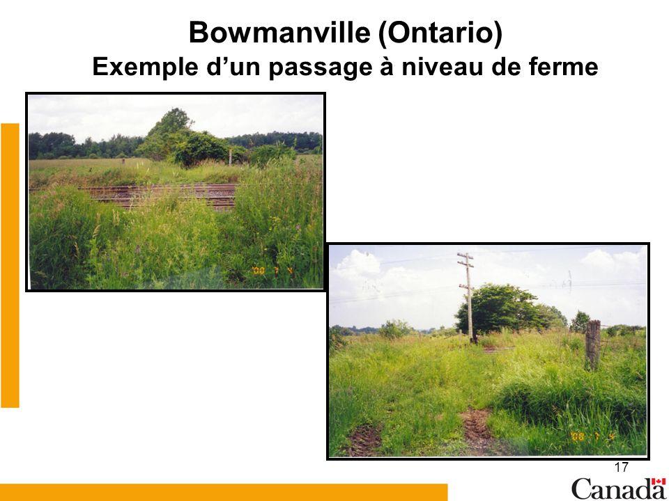17 Bowmanville (Ontario) Exemple dun passage à niveau de ferme
