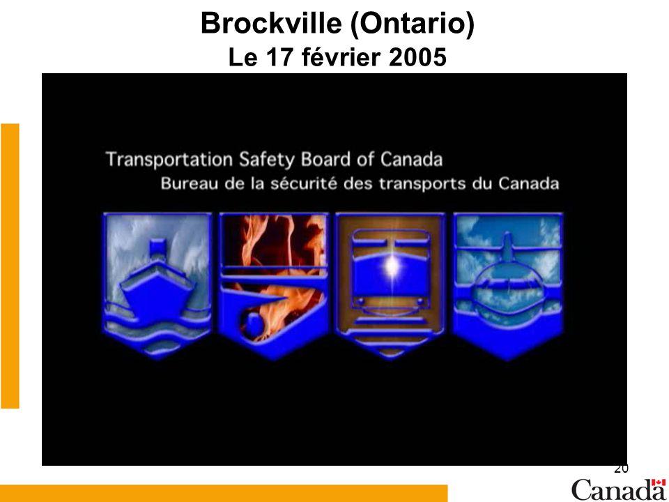 20 Brockville (Ontario) Le 17 février 2005