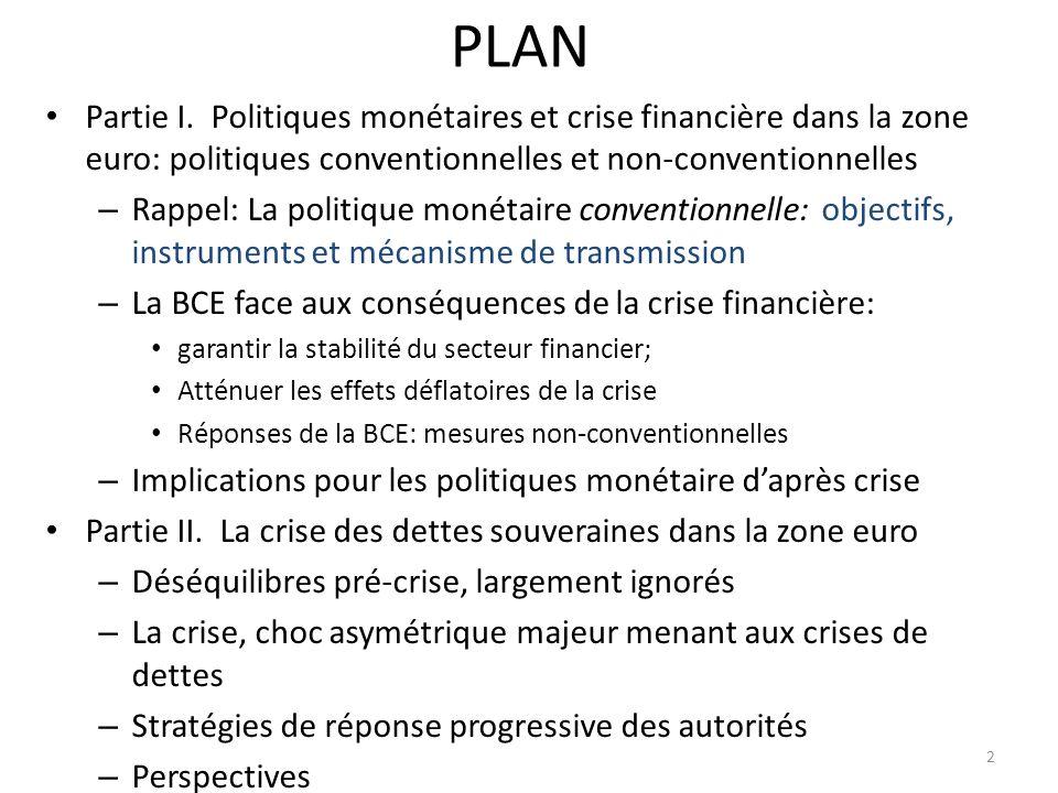 I.Politique monétaire et crise financière dans la zone euro 1.