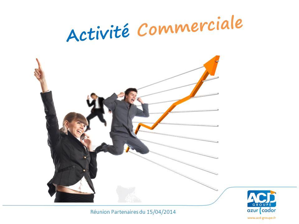 Réunion Partenaires du 15/04/2014 Activité Commerciale