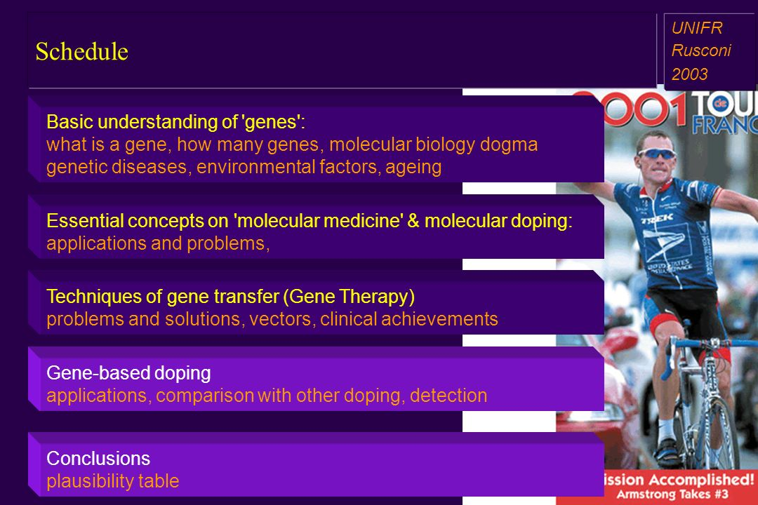 Essential concepts on 'molecular medicine' & molecular doping: applications and problems, Gene-based doping applications, comparison with other doping