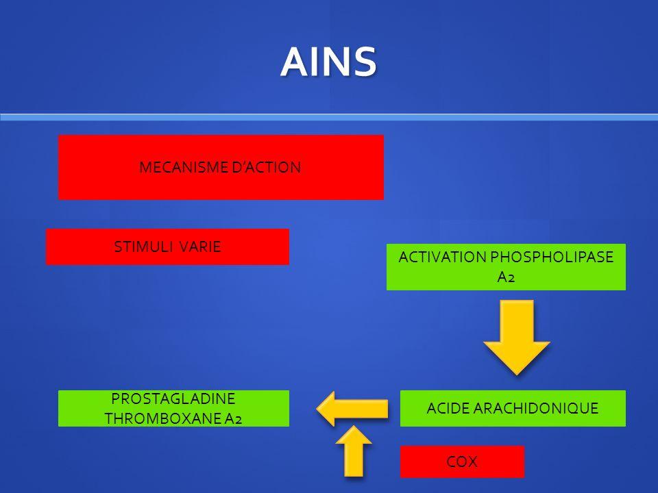 AINS MANIFESTATIONS NEURO SENSORIELLES CEPHALEE VERTIGE ACOUPHENE ASPIRINE INDOMETACINE