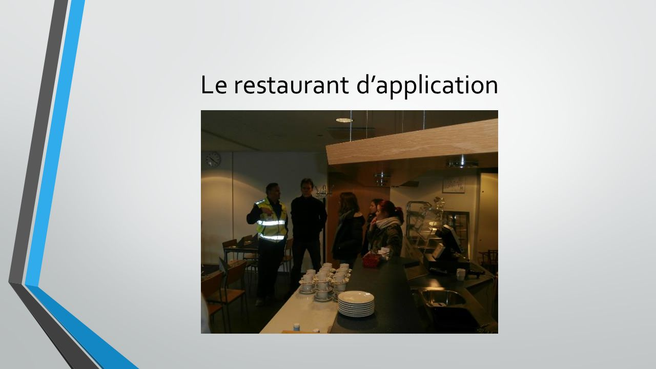 Le restaurant dapplication
