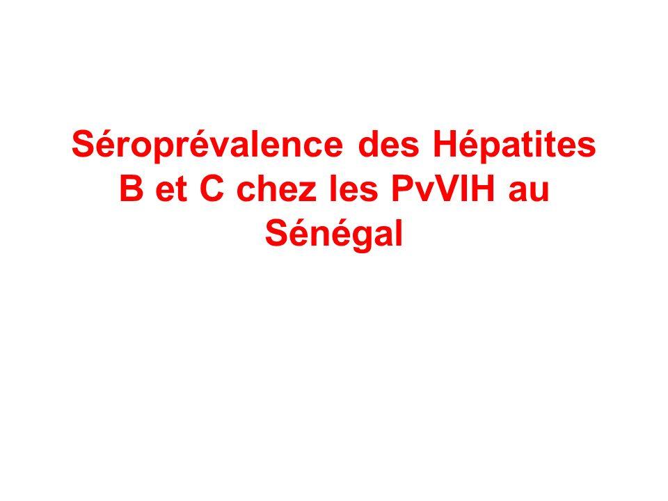 Séroprévalence des Hépatites B et C chez les PvVIH au Sénégal