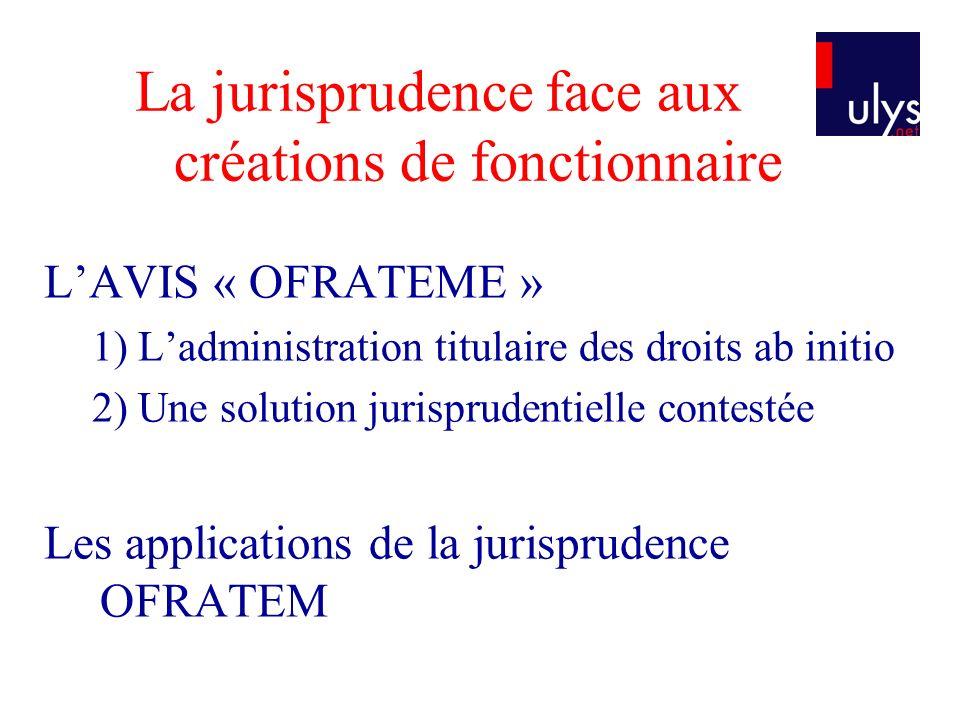 La loi nouvelle 1.Le renversement de lavis OFRATEM 2.