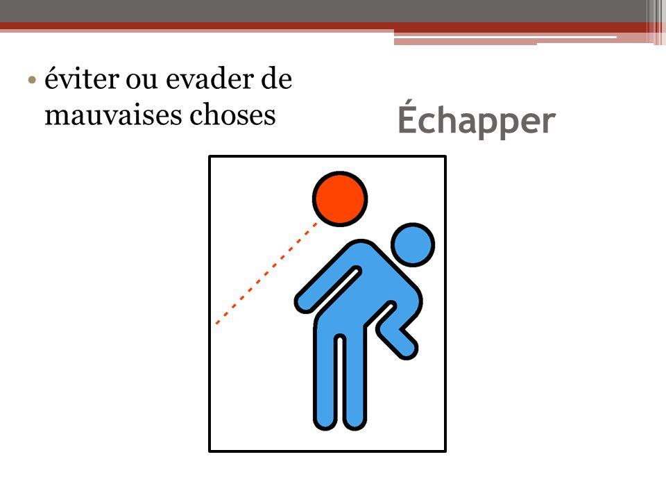 Échapper éviter ou evader de mauvaises choses
