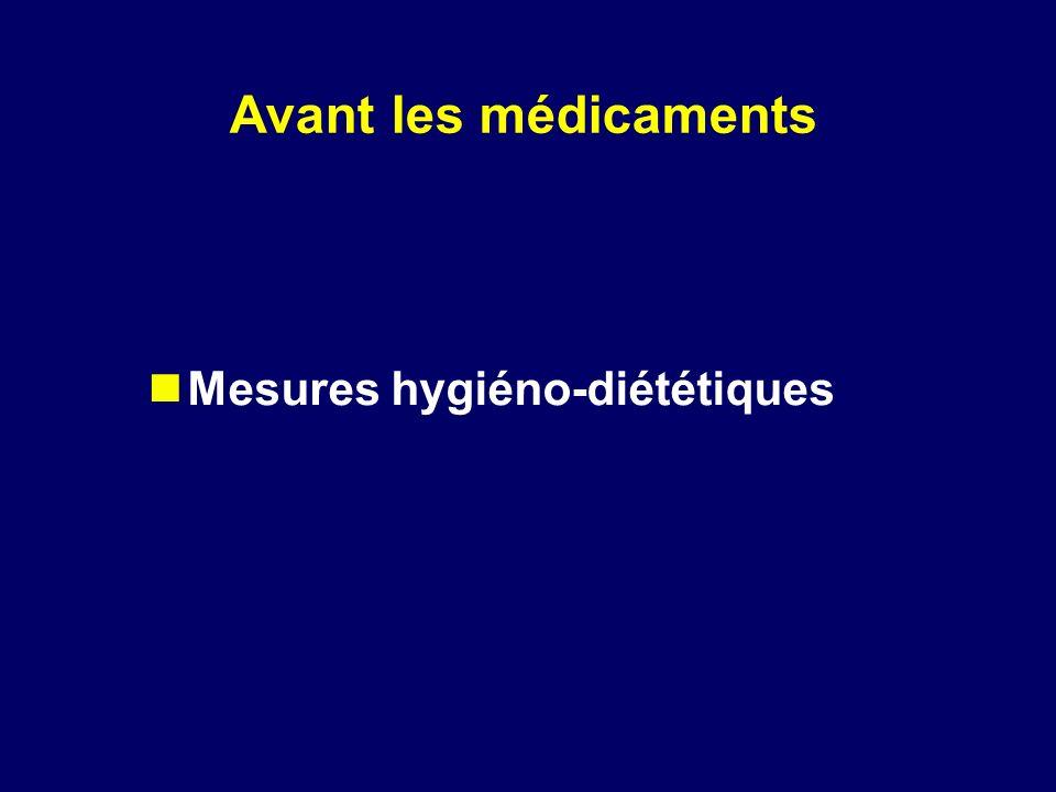 Mesures hygiéno-diététiques Avant les médicaments