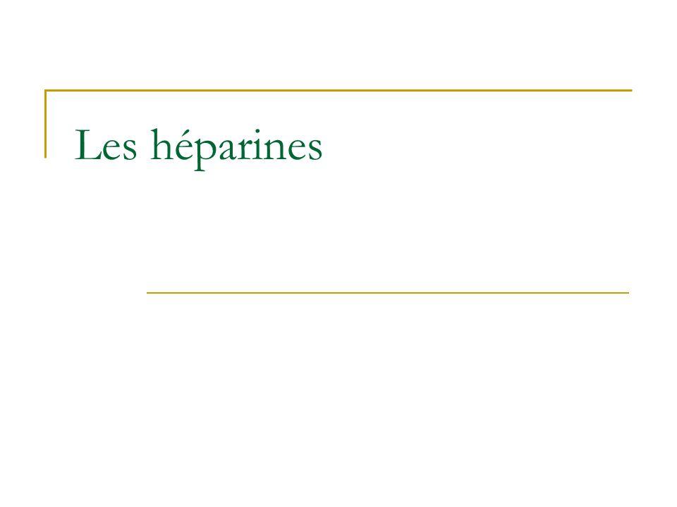 Les héparines