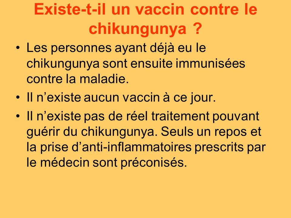 Existe-t-il un vaccin contre le chikungunya .
