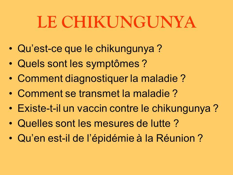 Quest-ce que le chikungunya .