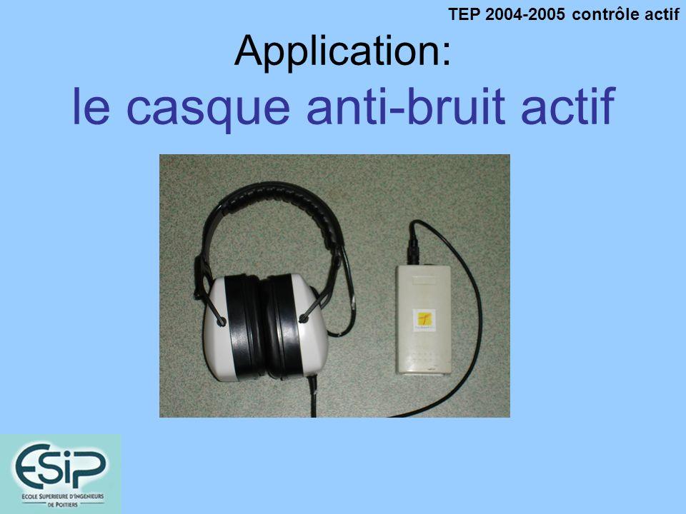 TEP 2004-2005 contrôle actif Application: le casque anti-bruit actif