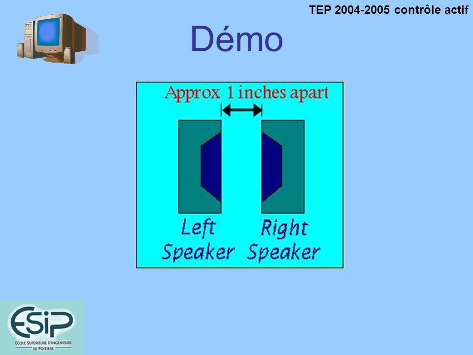 TEP 2004-2005 contrôle actif Démo