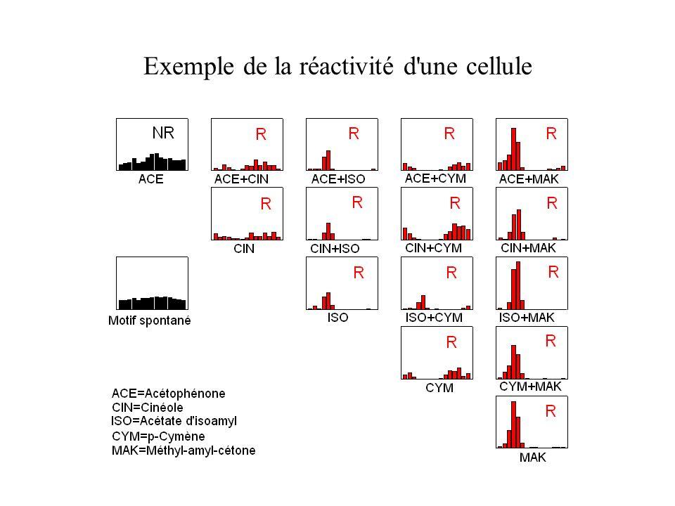 Exemple de la réactivité d'une cellule