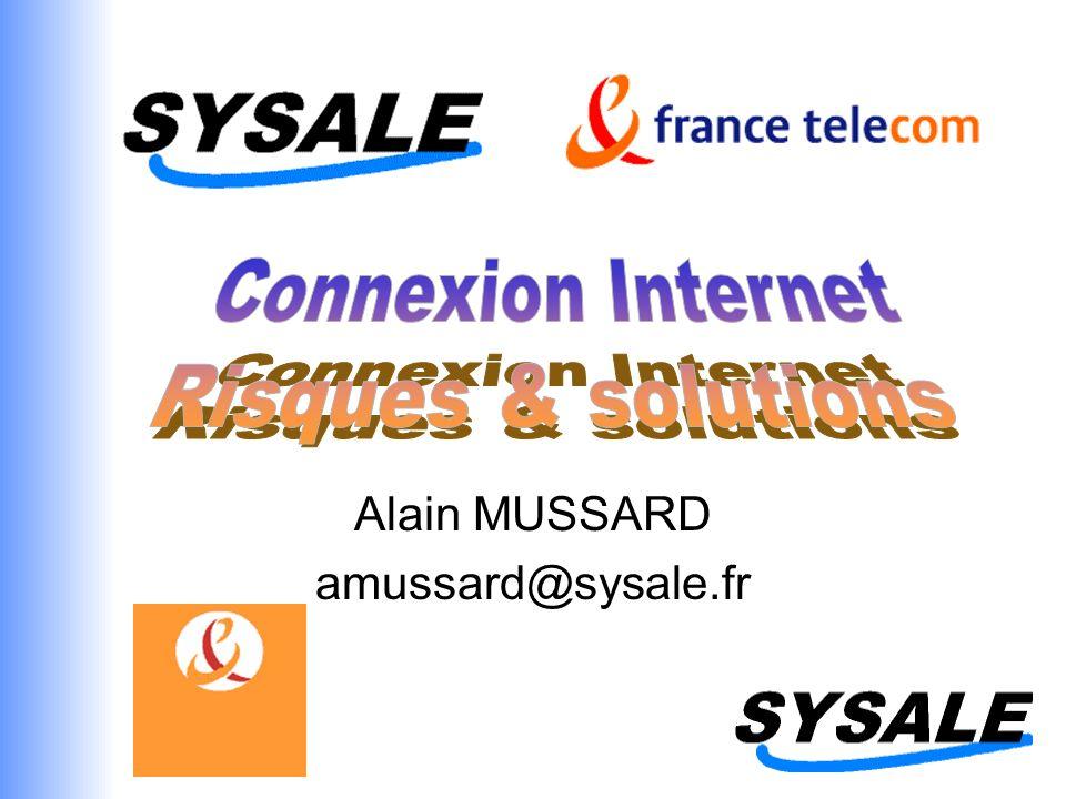 19, boulevard de la Croix Rousse - 69004 - Lyon Tel : 04 78 27 05 05 Fax : 04 78 27 86 50 e-mail : info@sysale.fr www.sysale.fr Agenda La connexion ADSL Risques & solutions