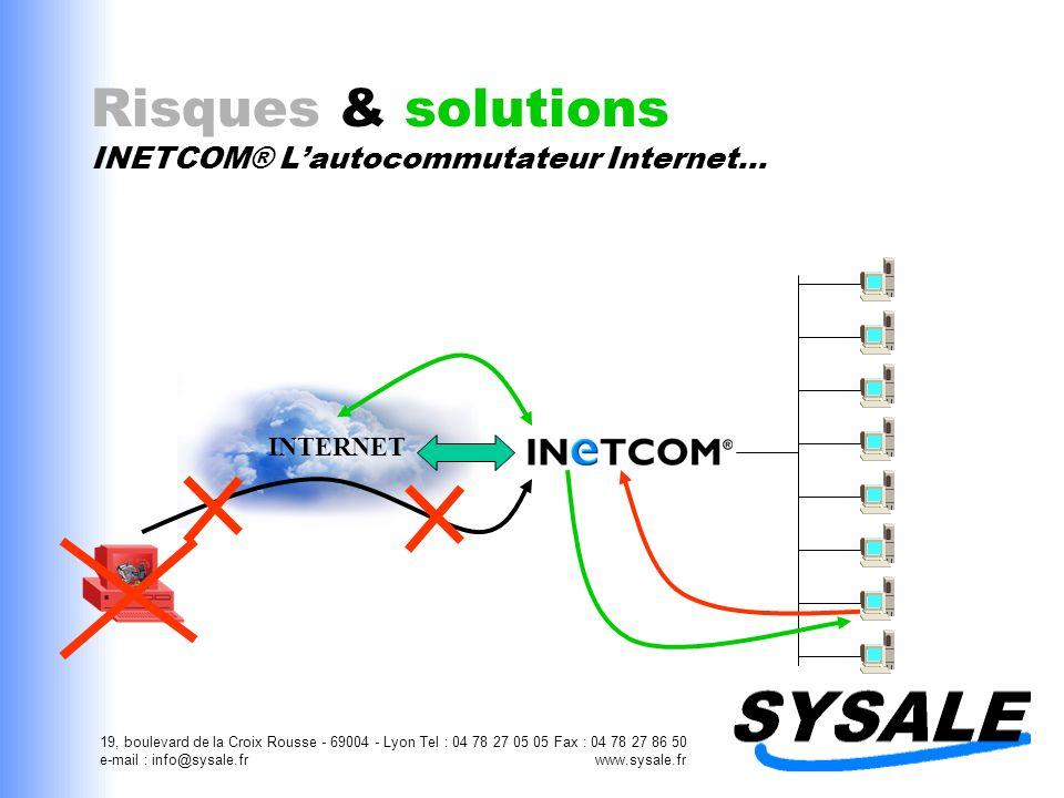 19, boulevard de la Croix Rousse - 69004 - Lyon Tel : 04 78 27 05 05 Fax : 04 78 27 86 50 e-mail : info@sysale.fr www.sysale.fr Risques & solutions IN