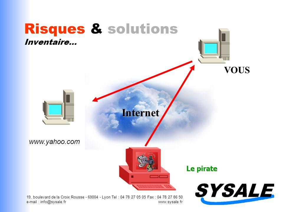 19, boulevard de la Croix Rousse - 69004 - Lyon Tel : 04 78 27 05 05 Fax : 04 78 27 86 50 e-mail : info@sysale.fr www.sysale.fr Risques & solutions Est-ce que tout le monde est concerné .