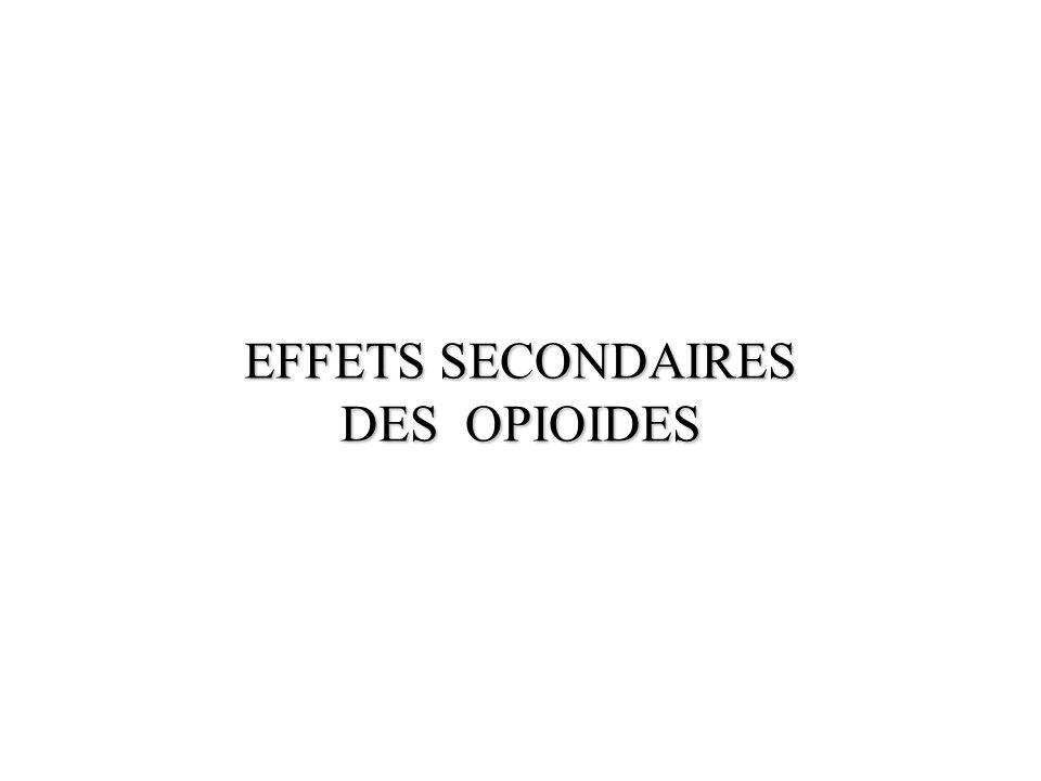 EFFETS SECONDAIRES DES OPIOIDES