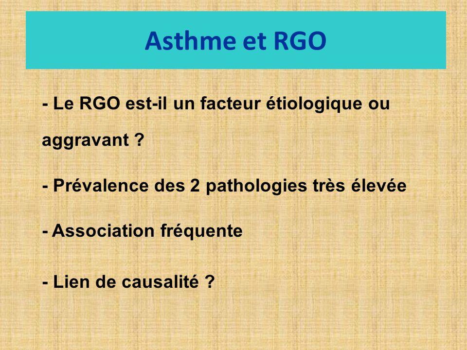 - Le RGO est-il un facteur étiologique ou aggravant .