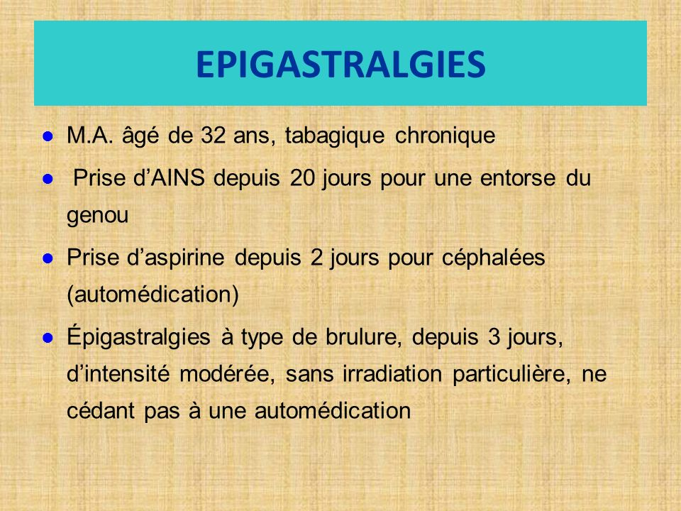 EPIGASTRALGIES M.A.