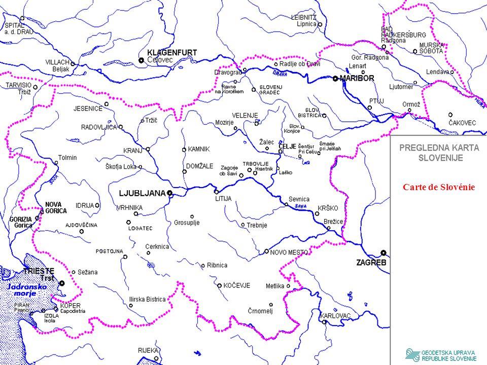 Carte de Slovénie