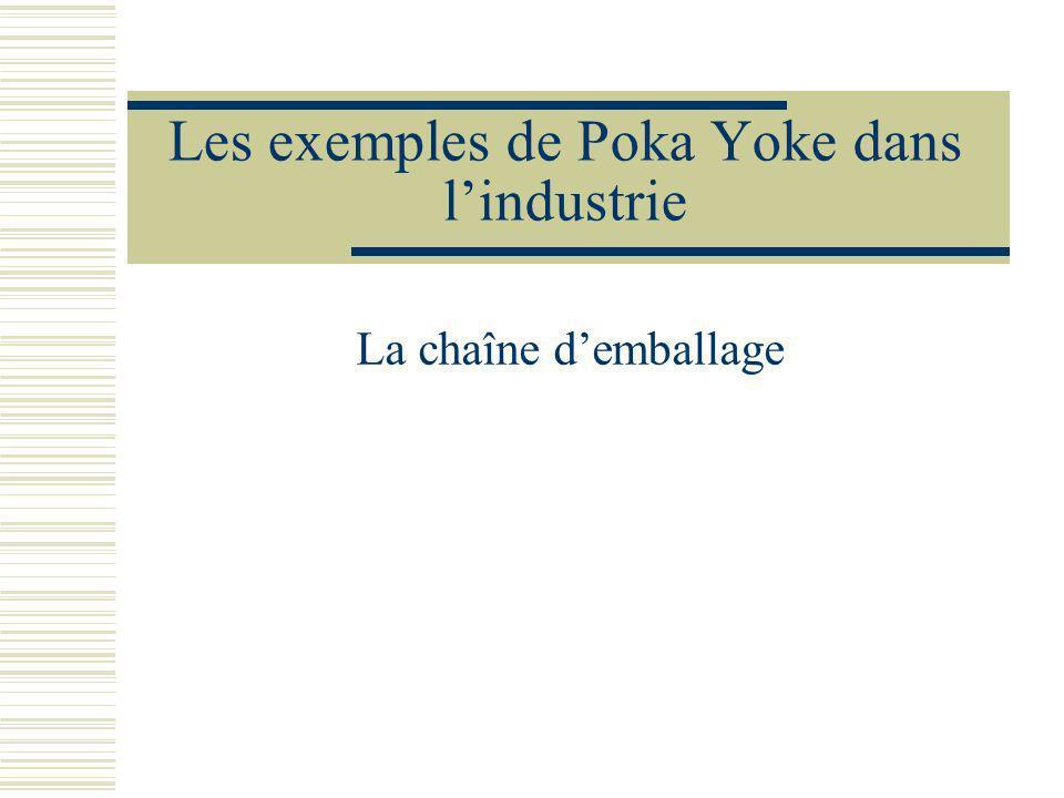 Les exemples de Poka Yoke dans lindustrie La chaîne demballage