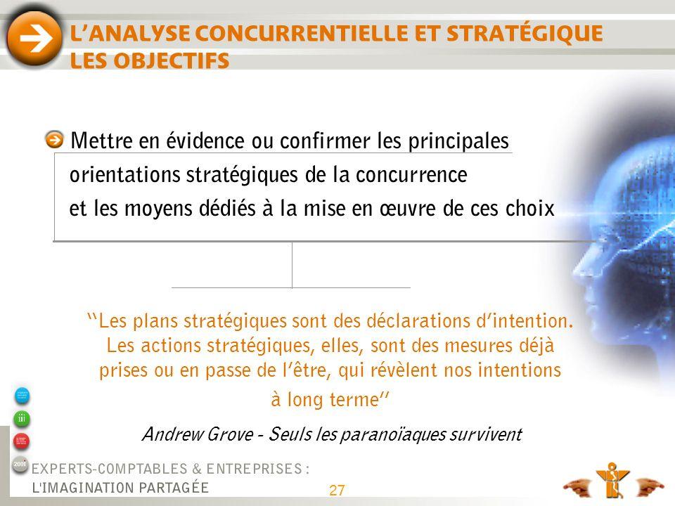 Les plans stratégiques sont des déclarations dintention. Les actions stratégiques, elles, sont des mesures déjà prises ou en passe de lêtre, qui révèl