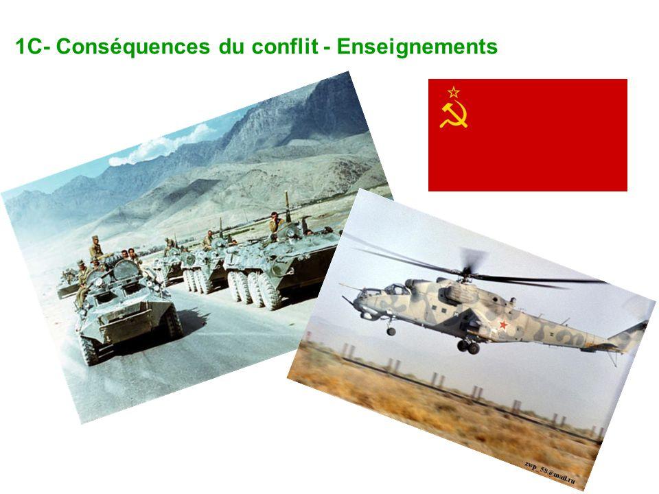 3C- Enseignements du conflit Premier engagement militaire des Etats-Unis depuis la guerre du Vietnam; les Américains réussissent à rassembler une coalition de 29 pays et à maintenir son unité en tenant Israël à lécart du conflit.
