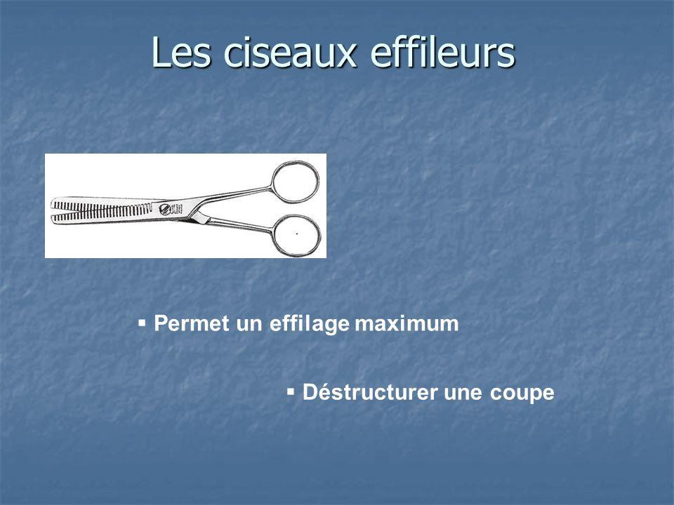 Les ciseaux effileurs Permet un effilage maximum Déstructurer une coupe