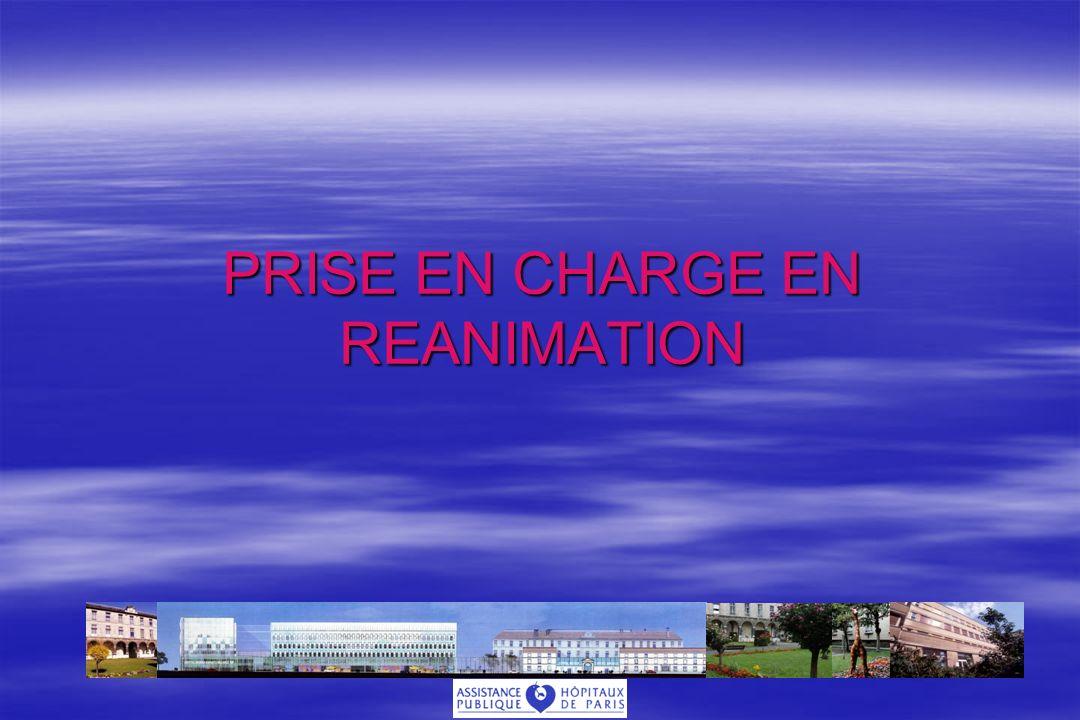 PRISE EN CHARGE EN REANIMATION