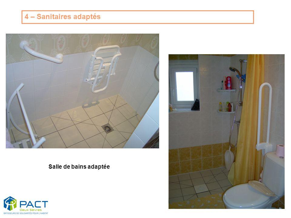 Salle de bains adaptée 4 – Sanitaires adaptés