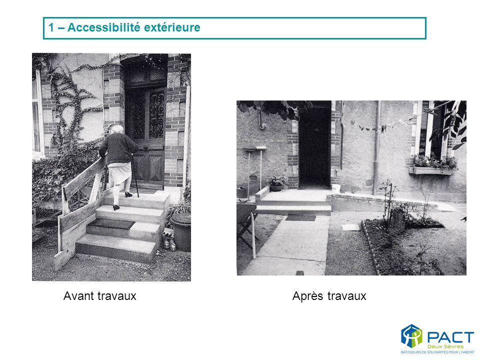 Avant travaux Après travaux 1 – Accessibilité extérieure