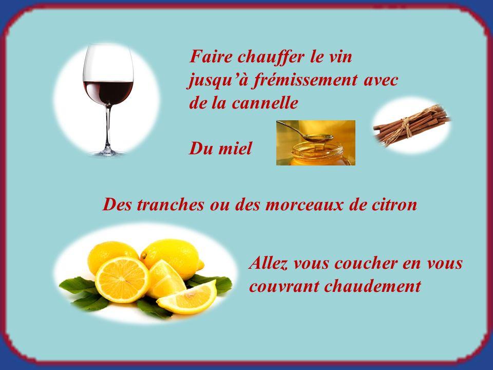 Soigner la sinusite avec du vin chaud, avec du vin chaud,