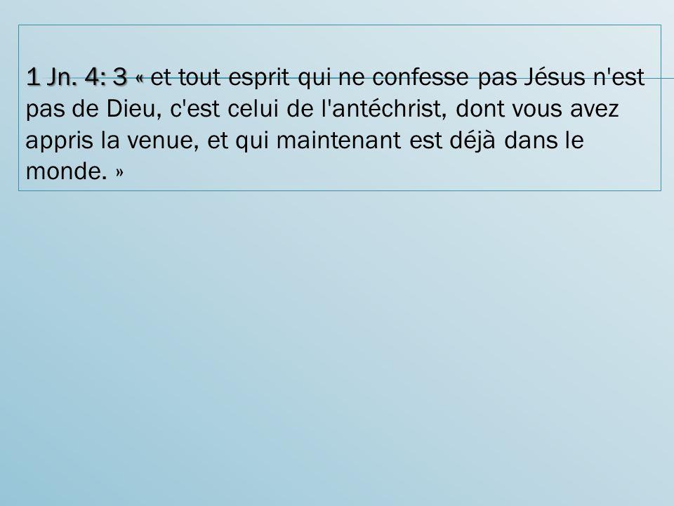 1 Jn.4: 3 « 1 Jn.