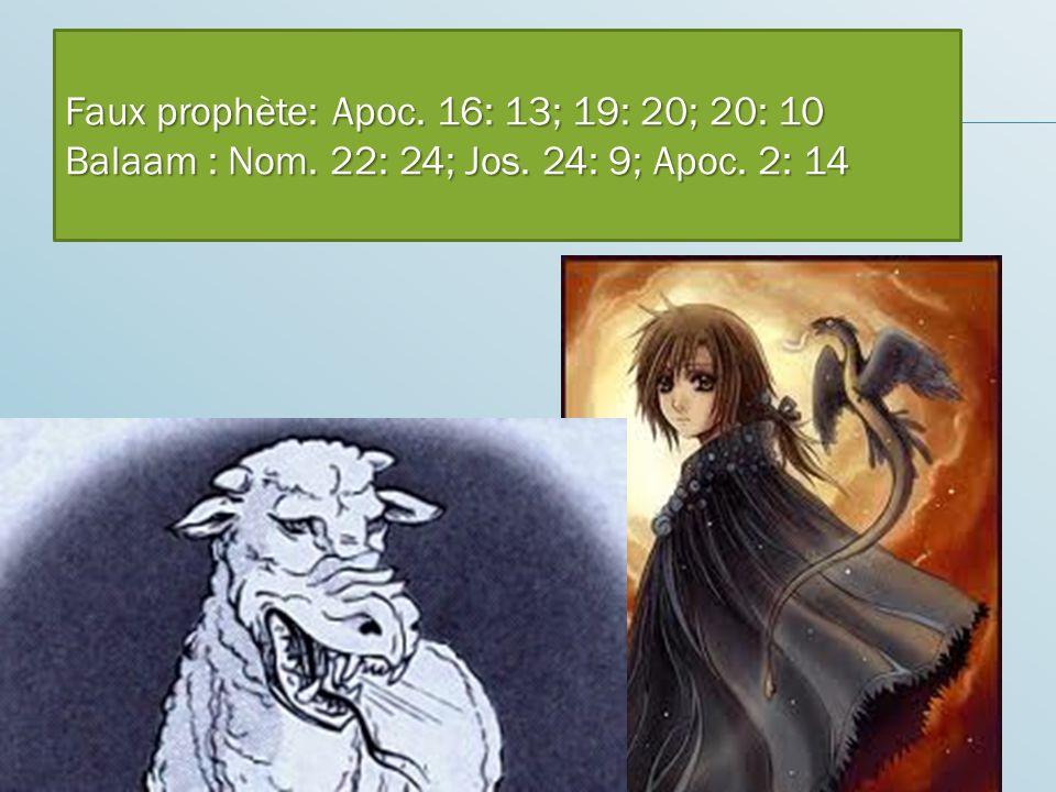 Caractéristiques de cette bête Parle comme un dragon Faux prophète: Apoc.