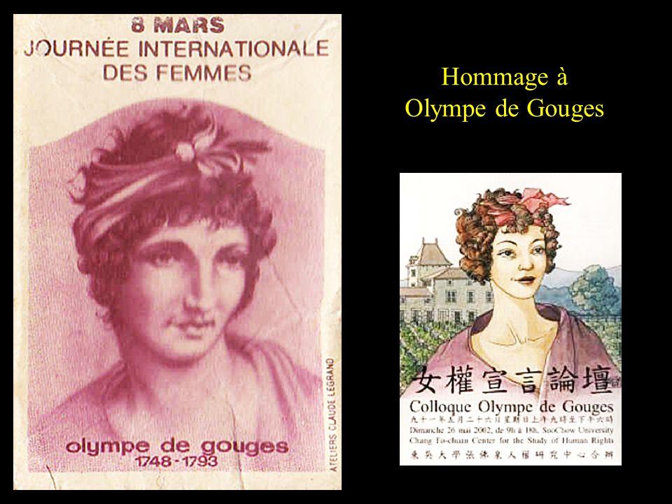 La Révolution française Elle considérait que les femmes étaient capables dassumer des tâches traditionnellement confiées aux hommes. Sétant adressée à