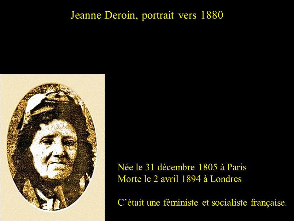 Marie Adélaïde Deraismes, dite Maria Portrait par Jean-Baptiste Daniel-Dupuis en 1893 Née le 17 août 1828 à Paris Morte le 6 février 1894 à Paris (17è