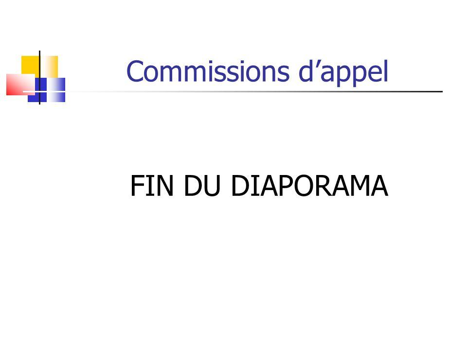 Commissions dappel FIN DU DIAPORAMA