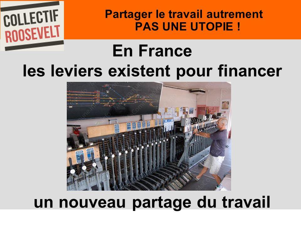 58 En France les leviers existent pour financer un nouveau partage du travail Partager le travail autrement PAS UNE UTOPIE !